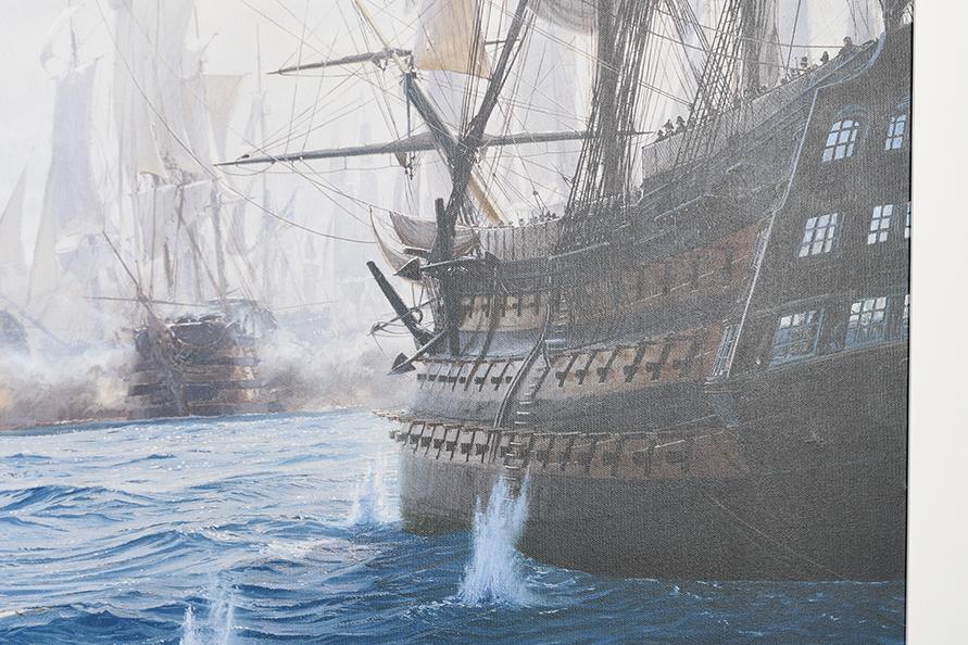 "Framed Limited Edition on Canvas by Marine Artist Steven Dews ""The Battle of Trafalgar"" - Image 12 of 14"