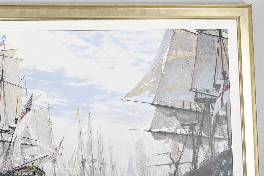 "Framed Limited Edition on Canvas by Marine Artist Steven Dews ""The Battle of Trafalgar"" - Image 3 of 14"