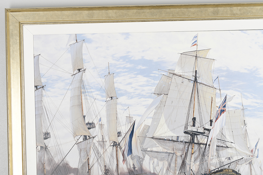 "Framed Limited Edition on Canvas by Marine Artist Steven Dews ""The Battle of Trafalgar"" - Image 2 of 14"