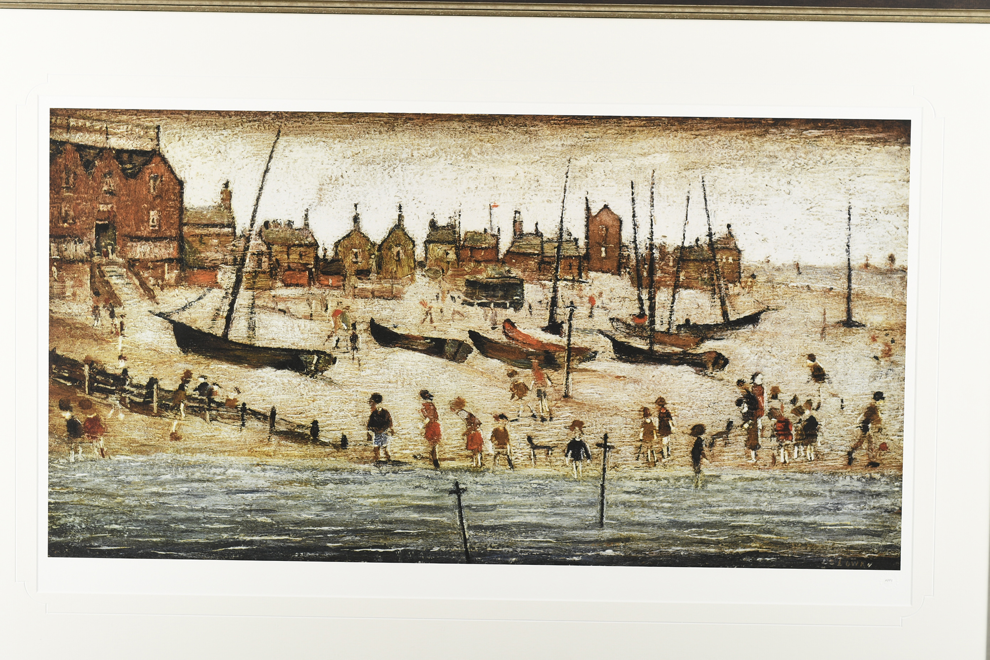 """Limited Edition L.S. Lowry """"The Beach"""" - Image 6 of 9"""