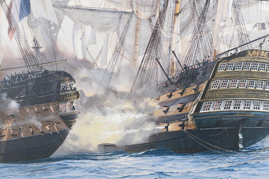 "Framed Limited Edition on Canvas by Marine Artist Steven Dews ""The Battle of Trafalgar"" - Image 10 of 14"