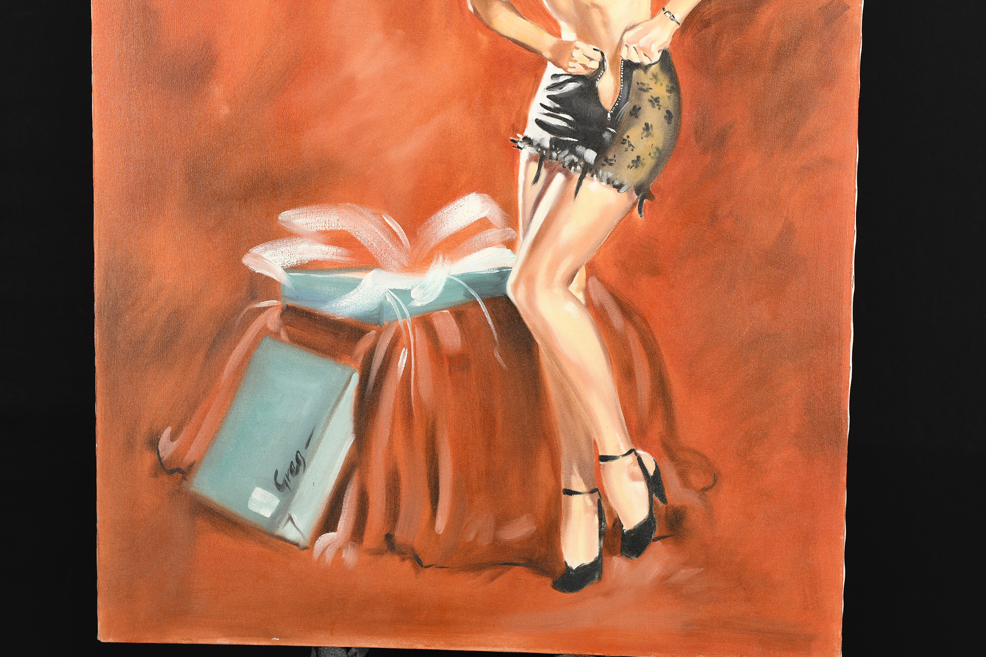 """Oil on Canvas by Greg """"""""Tight fit"""""""" - Image 3 of 5"""