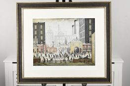 """L.S. Lowry Limited Edition Titled """"Coming From the Mill, 1930"""""""