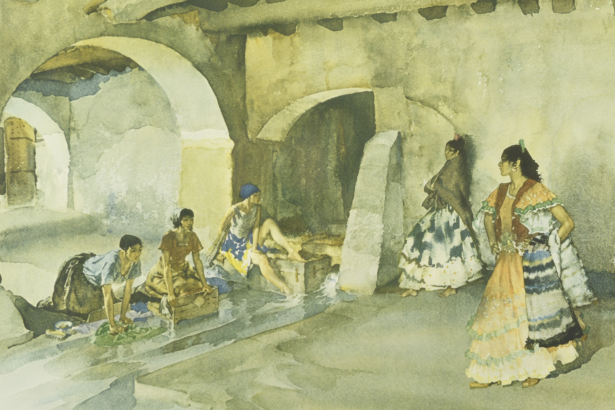 """Signed Limited Edition by Sir William Russell Flint """"Unwelcome Observers"""" - Image 8 of 8"""