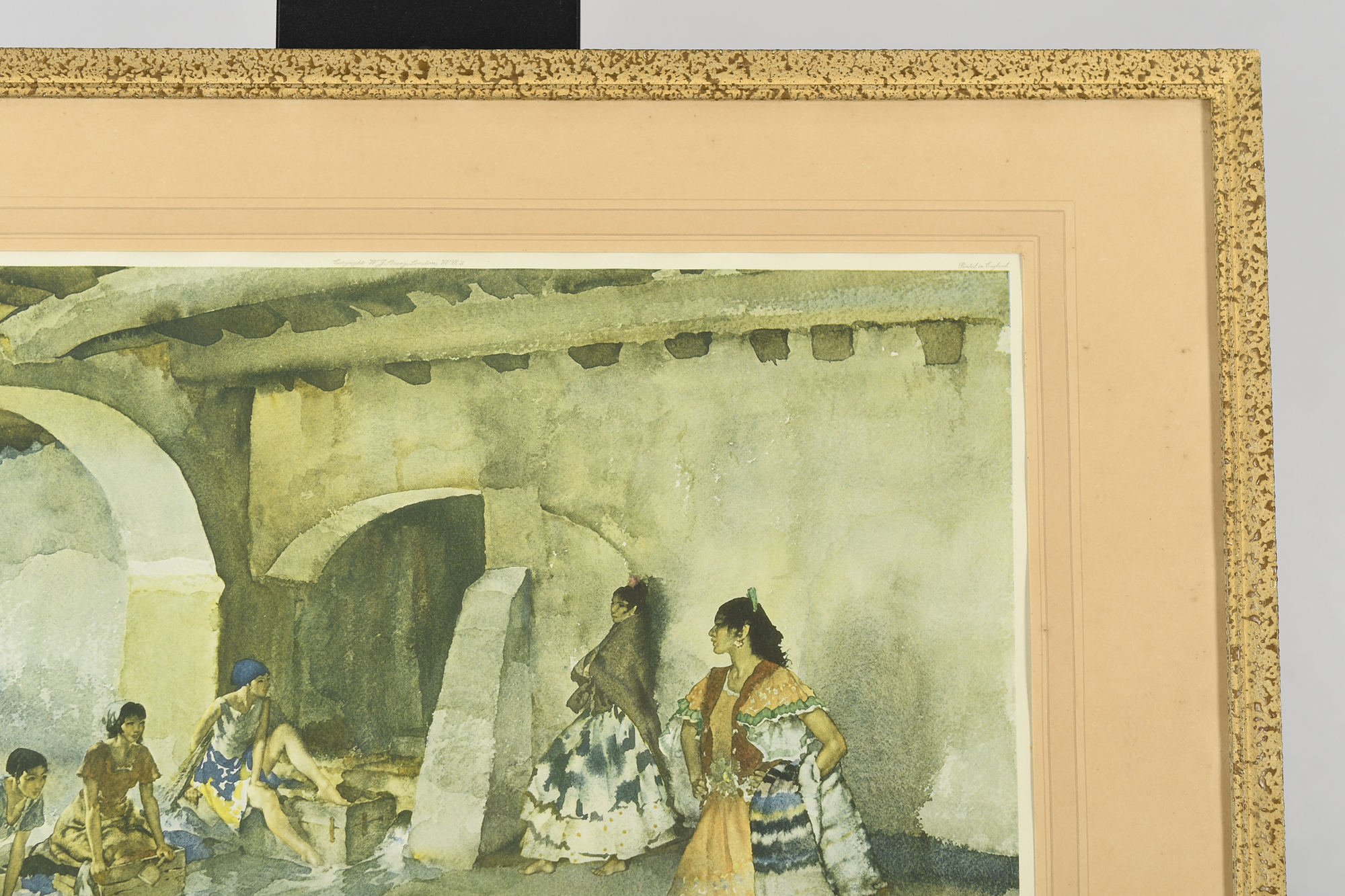 """Signed Limited Edition by Sir William Russell Flint """"Unwelcome Observers"""" - Image 7 of 8"""