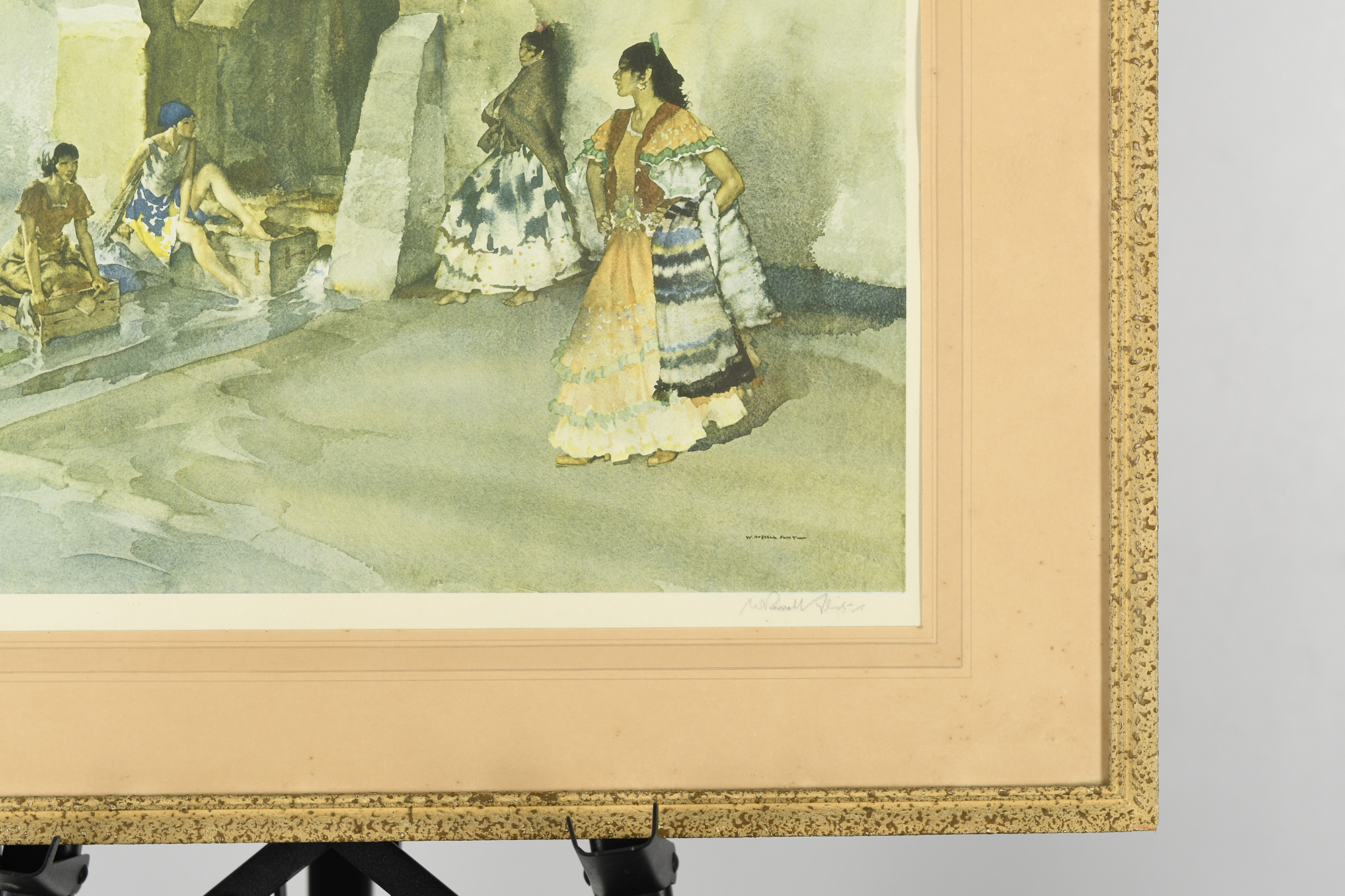 """Signed Limited Edition by Sir William Russell Flint """"Unwelcome Observers"""" - Image 5 of 8"""