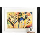 Wassily Kandinsky Limited Edition Composition No.4, 1911.