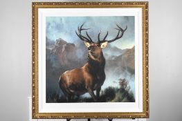 """Edwin Landseer Limited Edition """"Monarch of the Glen"""" 1 of only 85 Worldwide."""