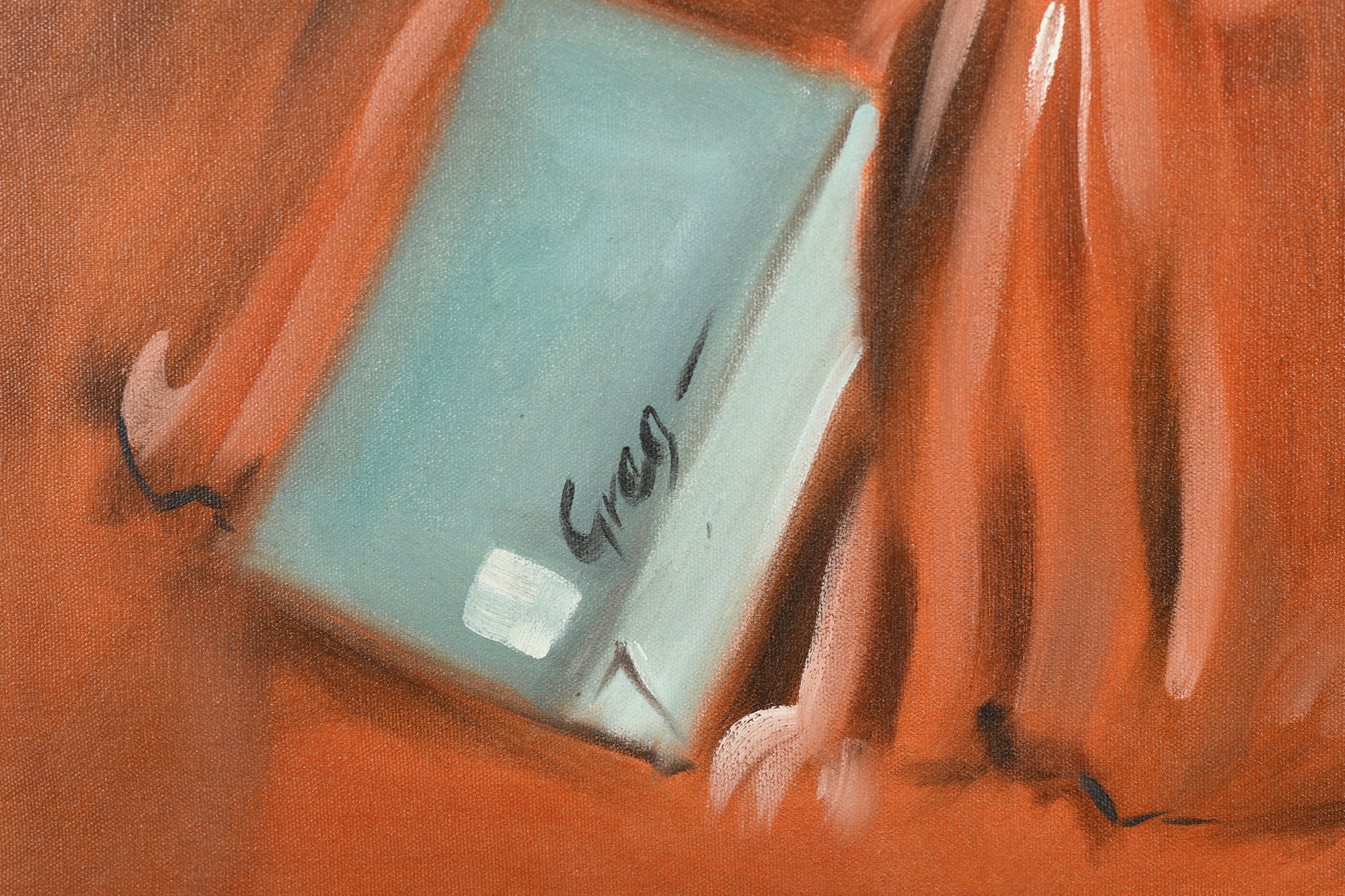 """Oil on Canvas by Greg """"""""Tight fit"""""""" - Image 2 of 5"""