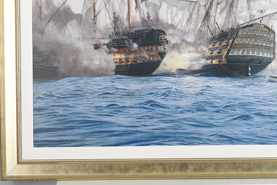 "Framed Limited Edition on Canvas by Marine Artist Steven Dews ""The Battle of Trafalgar"" - Image 7 of 14"
