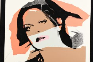 """Rare Signed Andy Warhol Limited Edition Silkscreen Titled """"Ladies and Gentlemen"""""""