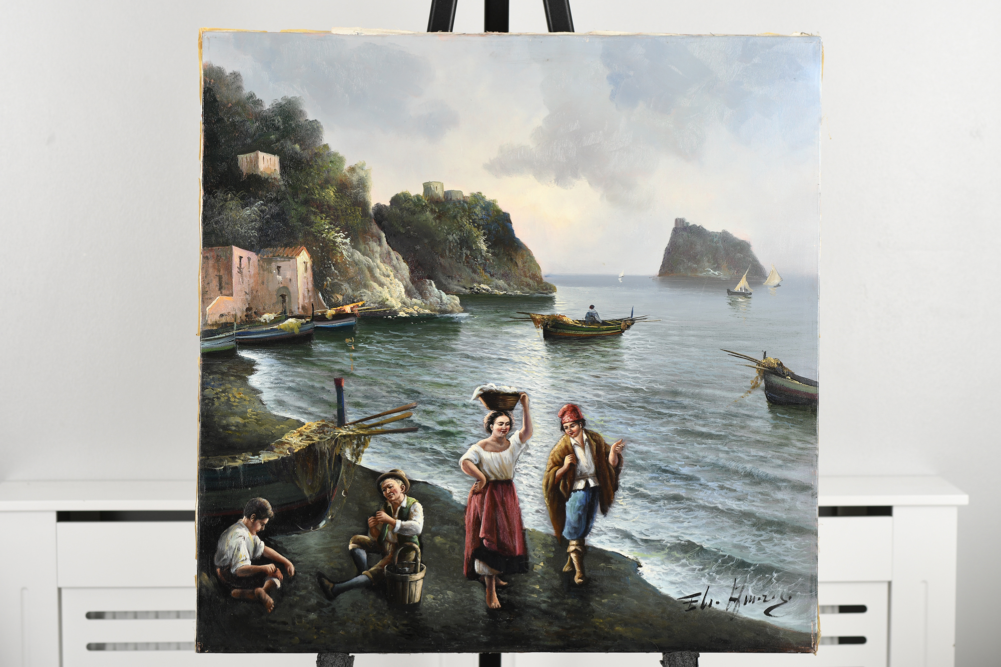 Oil on Canvas by Italian artist Amoroso - Image 11 of 11