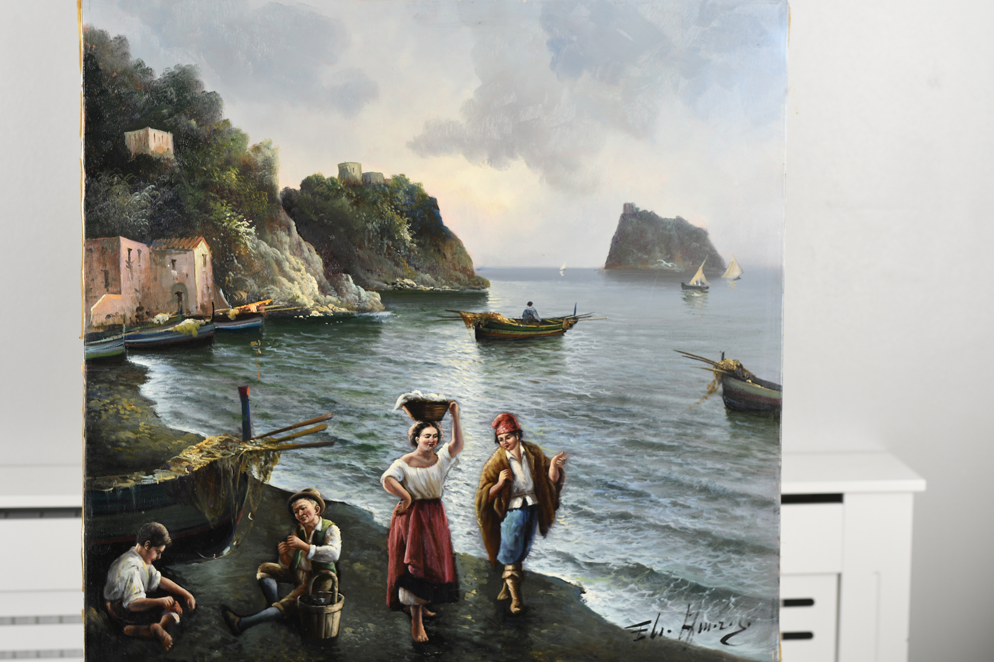 Oil on Canvas by Italian artist Amoroso - Image 5 of 11