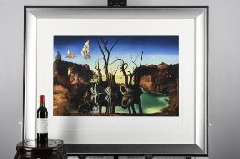 """Limited Edition by Salvador Dali, Titled """"Swans Reflecting Elephants"""""""