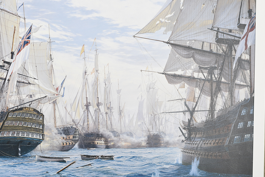 "Framed Limited Edition on Canvas by Marine Artist Steven Dews ""The Battle of Trafalgar"" - Image 14 of 14"