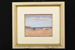 Framed Oil on Panel by Carnevale