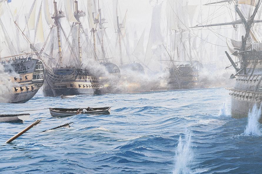 "Framed Limited Edition on Canvas by Marine Artist Steven Dews ""The Battle of Trafalgar"" - Image 13 of 14"