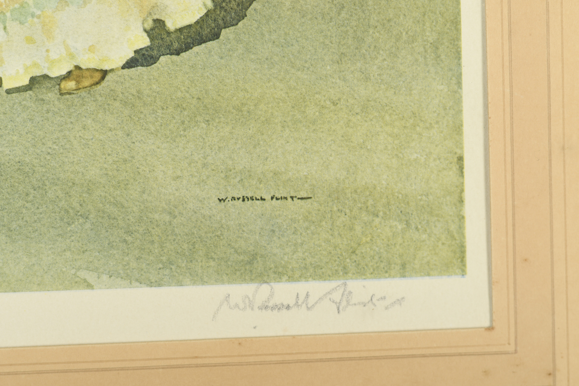 """Signed Limited Edition by Sir William Russell Flint """"Unwelcome Observers"""" - Image 2 of 8"""