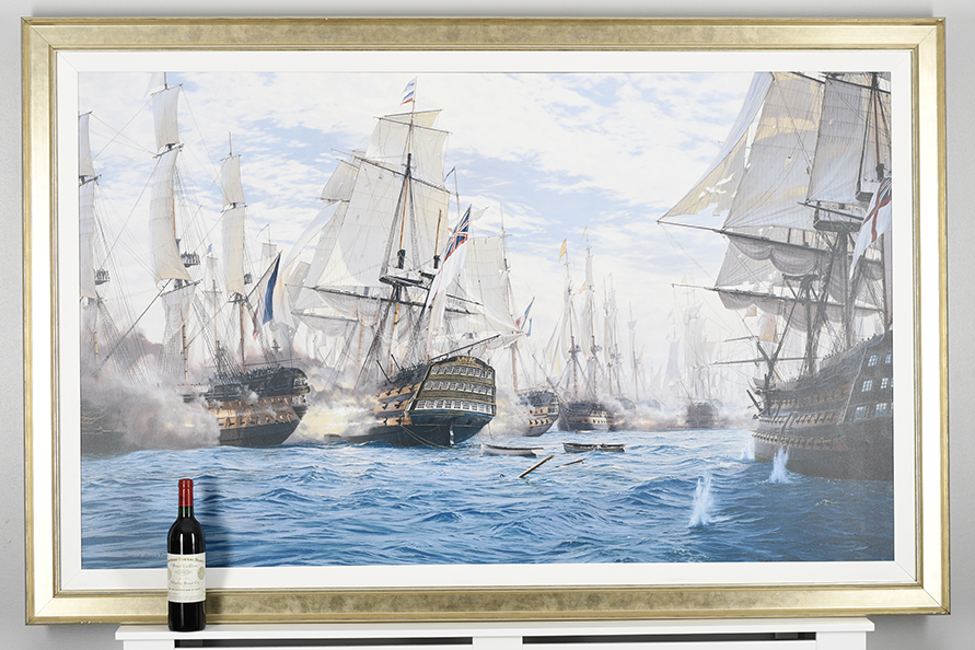 "Framed Limited Edition on Canvas by Marine Artist Steven Dews ""The Battle of Trafalgar"" - Image 4 of 14"
