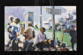 Original Painting by Hong Kong Artist Luk Kwok Yuen.