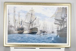 "Framed Limited Edition on Canvas by Marine Artist Steven Dews ""The Battle of Trafalgar"""