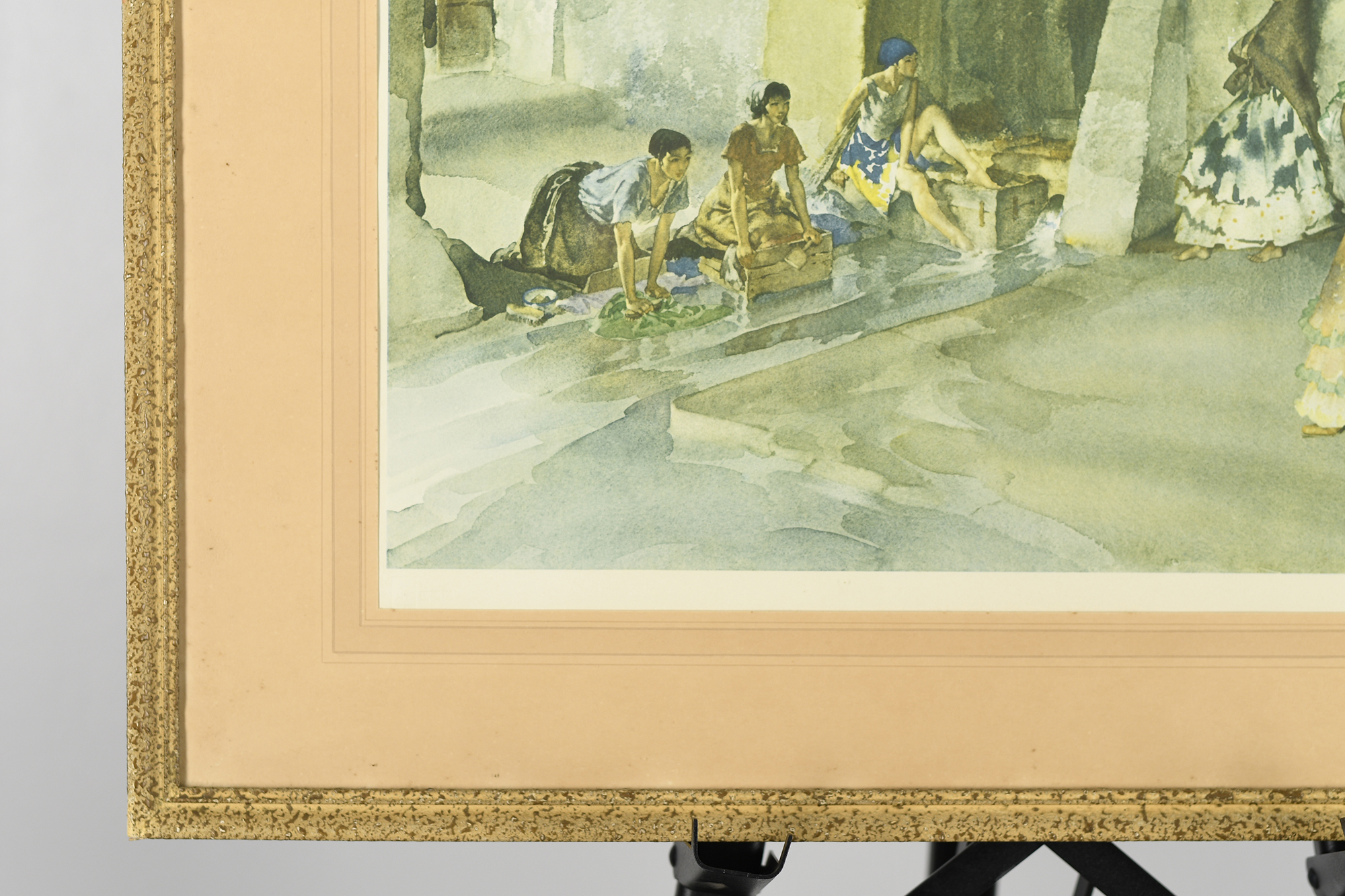 """Signed Limited Edition by Sir William Russell Flint """"Unwelcome Observers"""" - Image 4 of 8"""