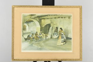 """Signed Limited Edition by Sir William Russell Flint """"Unwelcome Observers"""""""