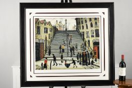 """""""Steps at Wick"""" Limited Edition by L.S. Lowry."""