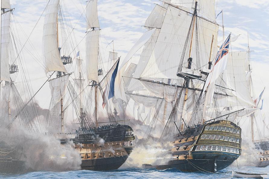 "Framed Limited Edition on Canvas by Marine Artist Steven Dews ""The Battle of Trafalgar"" - Image 9 of 14"