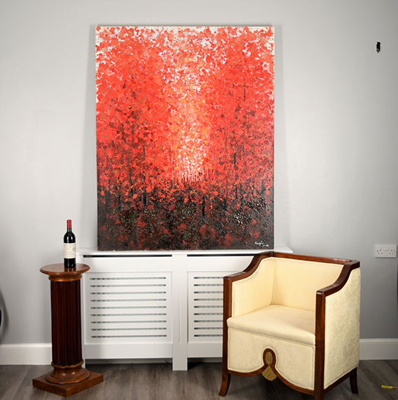 Large Original Impressionist Oil on Canvas - Image 8 of 11