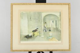 """Signed Limited Edition by Sir William Russell Flint. Titled """"""""Los Cientos"""""""""""