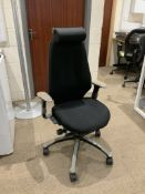 1 Black RH directors office chair