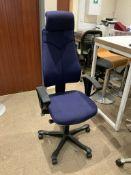 1 blue Directors office chair