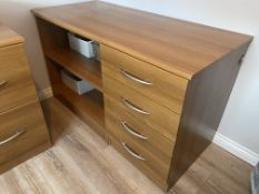 Wooden Drawers office storage unit with shelves