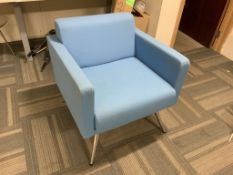 Blue Allermuir Reception chair