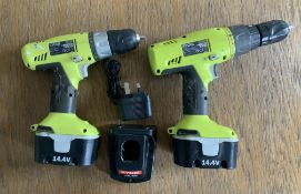 2 Ryobi Power Drills with Charger