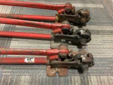 3 Red pipe benders