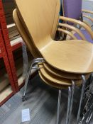 4 Stackable Wooden Chairs