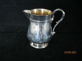 Antique Sterling Silver Gilt Creamer 1870 Elkington & Co