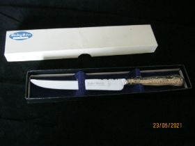 Vintage Sterling Silver Handle Cake Knife 1973 Sheffield