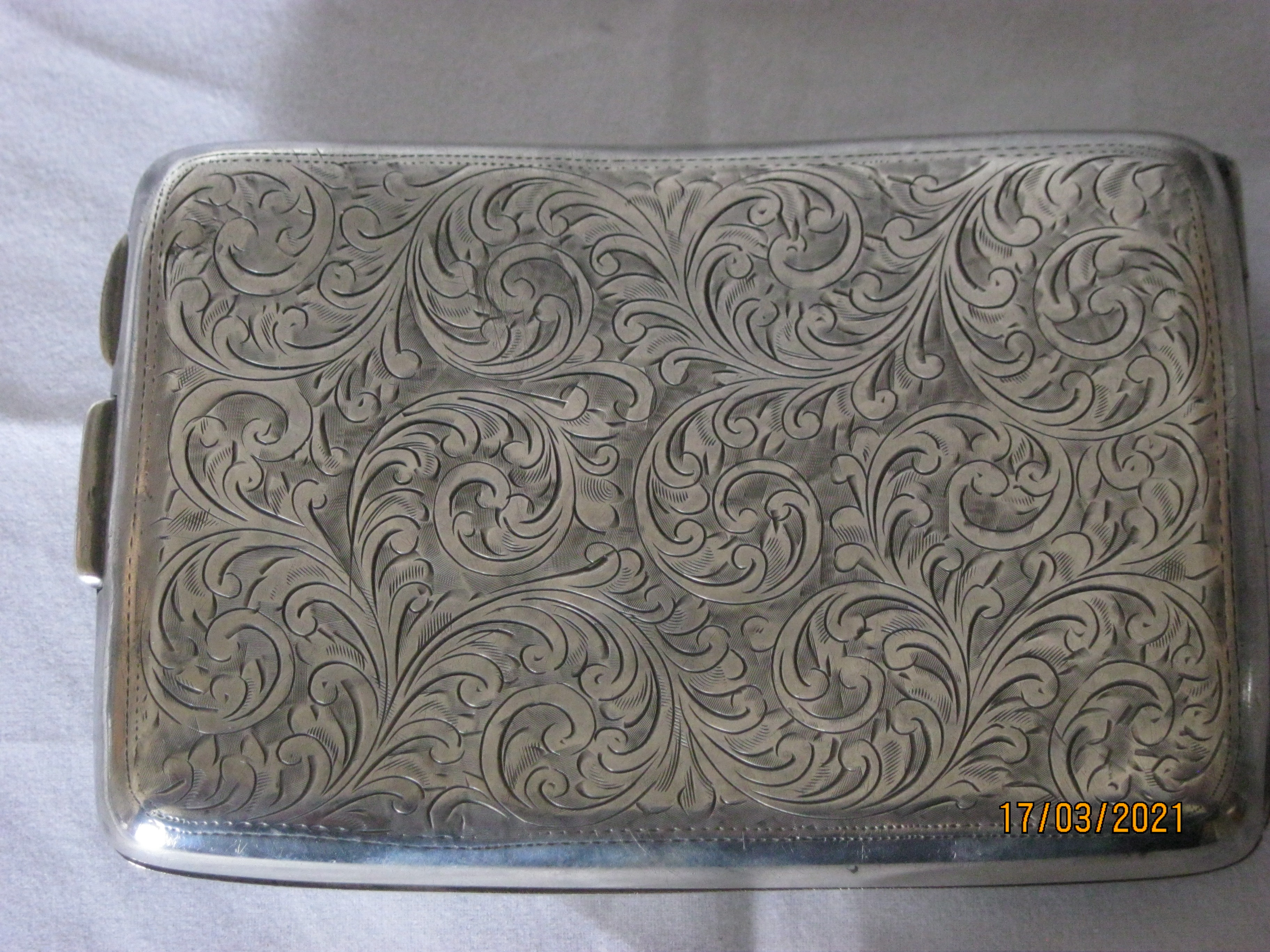 Antique Sterling Silver Cigarette Case 1921 - Image 3 of 11