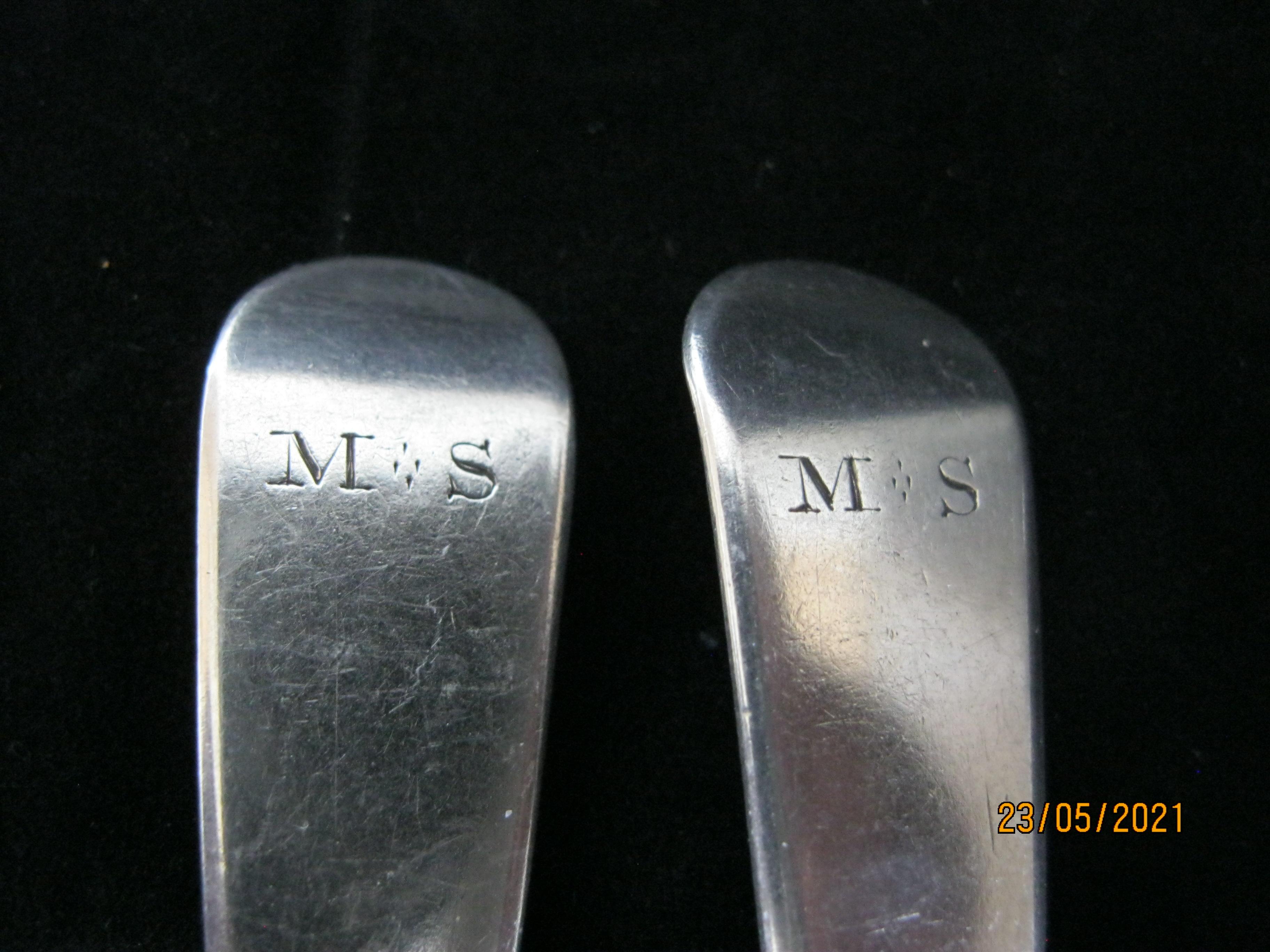 Set Of Six Georgian Sterling Silver Teaspoons 1812 Exeter - Image 3 of 6