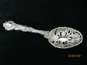 Antique Solid Silver Berry Spoon 1899 London