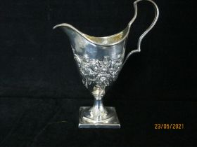 Antique Georgian Sterling Silver & Gilt Cream Jug 1797 Sheffield