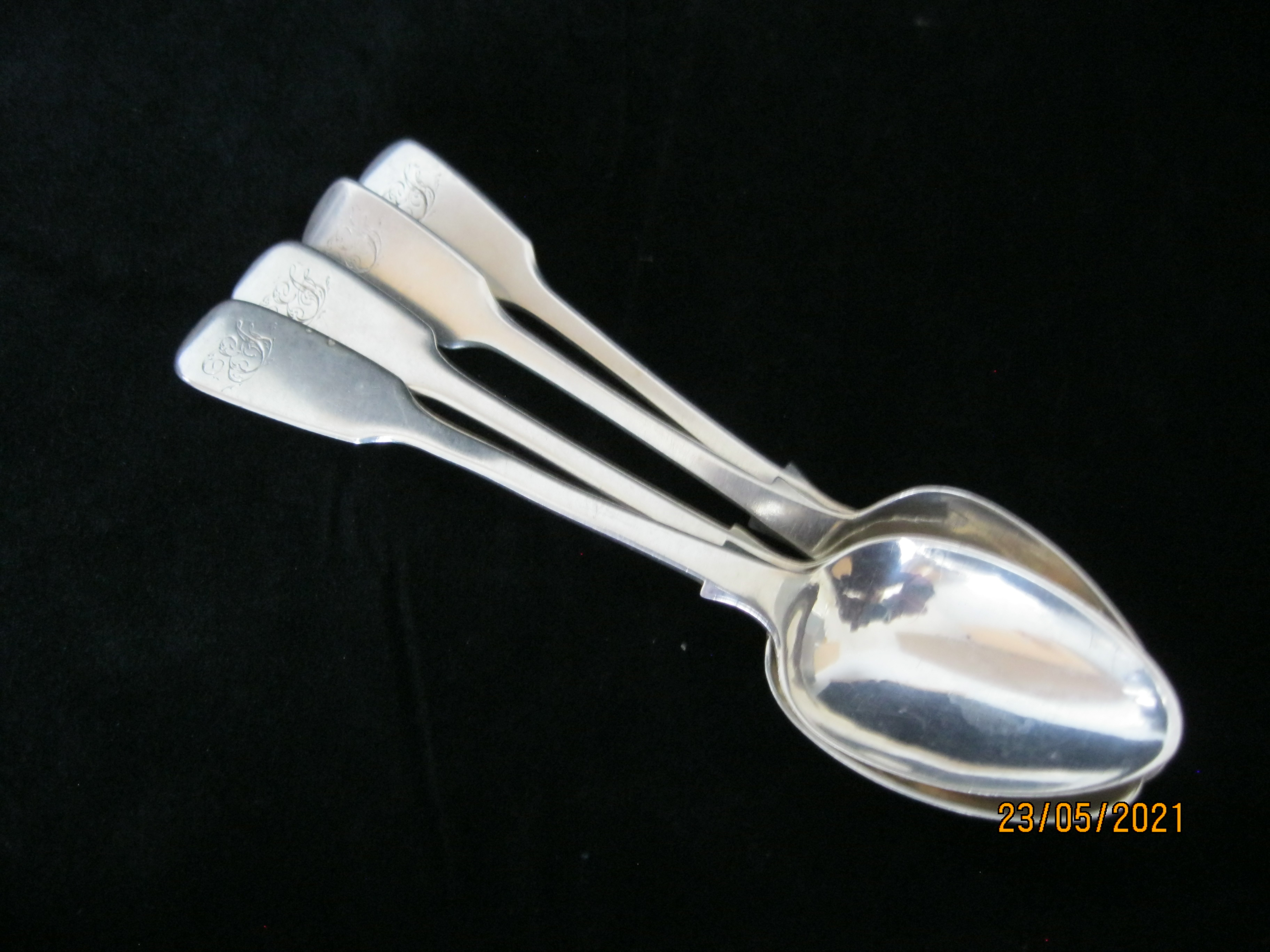 Set Of Four Victorian Sterling Silver Teaspoons 1843 London - Image 6 of 6