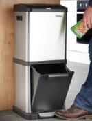 34L Stainless Steel Recycle Bin - Customer Returns