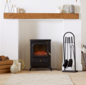 1850W Small Black Stove Heater - Customer Returns