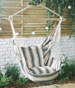 Striped Hanging Garden Chair - Customer Returns