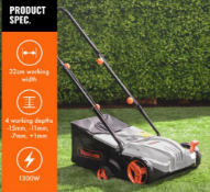 1300W Lawn Rake - Customer Returns