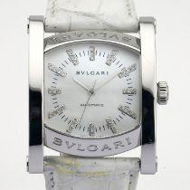 Bvlgari / AA44S Diamond - Gentlemen's Steel Wrist Watch
